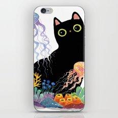 the Aquarium Cat _ Jellyfish iPhone & iPod Skin