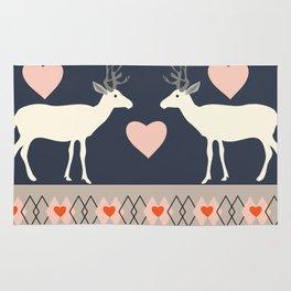 Romantic deer Rug