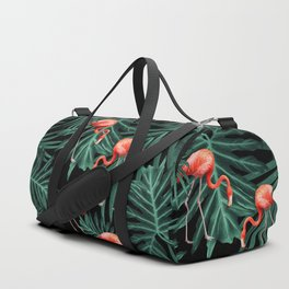 Summer Flamingo Jungle Night Vibes #2 #tropical #decor #art #society6 Duffle Bag