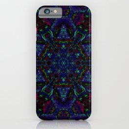 Near Black Daylily (under metaphorical blacklight) iPhone Case