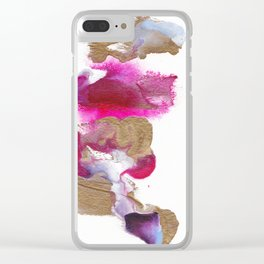 Eloise Abstract Painting Clear iPhone Case