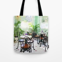 Watercolor Cafe Tote Bag