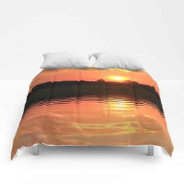 Reflections of a Sunday Sunrise Comforters