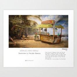 """Denpasar"" in words & image (M.Konecka) Art Print"
