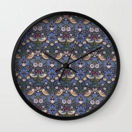 William Morris Strawberry Thief Pattern Wall Clock