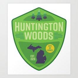 Huntington Woods, Michigan Art Print