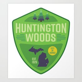 Huntington Woods, Michigan Art Print