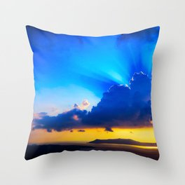 Angel sky Throw Pillow