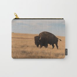 Bison Bull in Badlands Carry-All Pouch