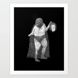 Zombies in my backyard: Nacho Libre Art Print
