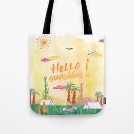 Hello Sunshine Exotic Landscape Tote Bag