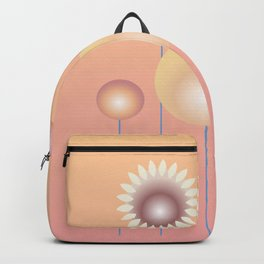 Design with flowers, abstract flower meadow, spring and summer Backpack