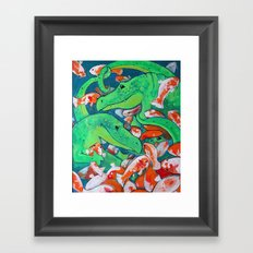 CROCODILE SMILE Framed Art Print