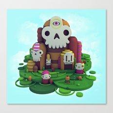 Skull Mountain Canvas Print