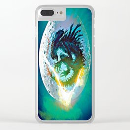 Monster Inside Egg Clear iPhone Case