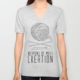 Weapons Of Mass Creation - Knitting Unisex V-Neck