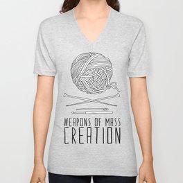 Weapons Of Mass Creation - Knitting Unisex V-Neck
