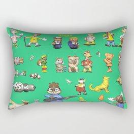 Toys to play green (kids) Rectangular Pillow