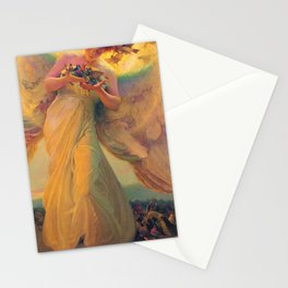 'The Angel of the Songbirds' still life painting by František Dvořák Stationery Cards