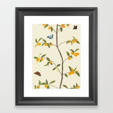 Jenny Chinoiserie Kumquat Framed Art Print