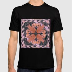 Flamingos  Mens Fitted Tee Black MEDIUM