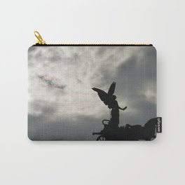 Roman angel and chariot at sunset 2 Carry-All Pouch