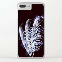 Tropical silhouette Clear iPhone Case