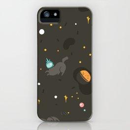 Space unicorn pattern iPhone Case