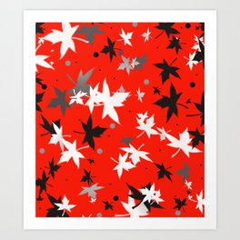 Forever Autumn Leaves red 5 Art Print