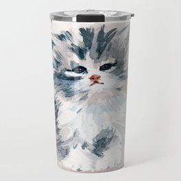 Kitten Portrait Travel Mug
