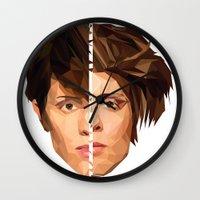 tegan and sara Wall Clocks featuring TEGAN AND SARA by MGNFQ