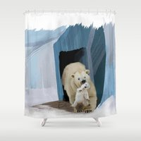bears Shower Curtains featuring Bears by Elena Napoli