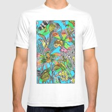 psychedelic garden Mens Fitted Tee White MEDIUM