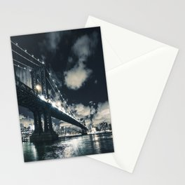 manhattan bridge in nyc Stationery Cards