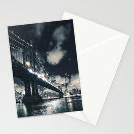 manhattan bridge in nyc Stationery Cards