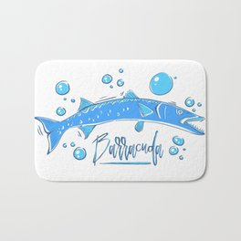 Big Blue Barracuda Bath Mat