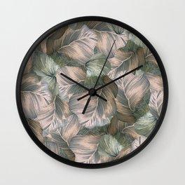 Heathered Grey Intertwine Wall Clock