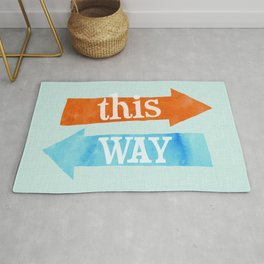 Which Way? Rug