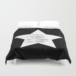 Merry Christmas & Happy New Year 1- Holidaze Duvet Cover