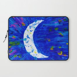 Glitter Crescent Moon Phase Laptop Sleeve