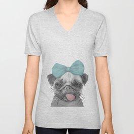 Pug Love Unisex V-Neck
