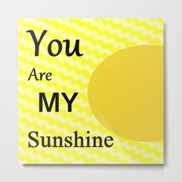 Sunshine - Typography Metal Print