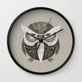 Wise Old Owl Says Wall Clock