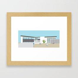Mid Century Modern Palm Springs House Number 7 Framed Art Print