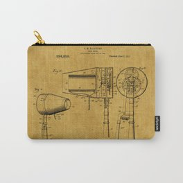 Hair Dryer Patent 1 Carry-All Pouch