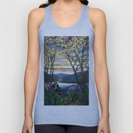 Louis Comfort Tiffany - Decorative stained glass 5. Unisex Tank Top