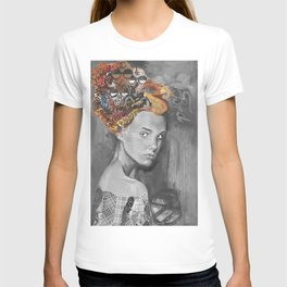 Dame black and white  T-shirt