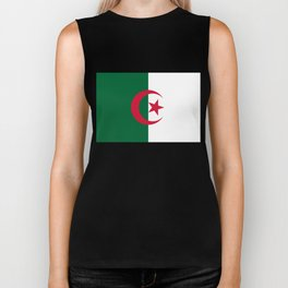 National flag of Algeria - Authentic version (color and scale) Biker Tank