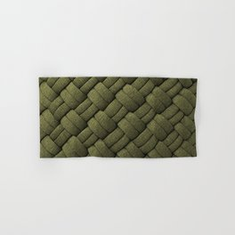 Expressions Olive Chunky Weave  Hand & Bath Towel