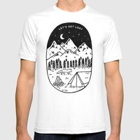 Let's Get Lost III MEDIUM White Mens Fitted Tee